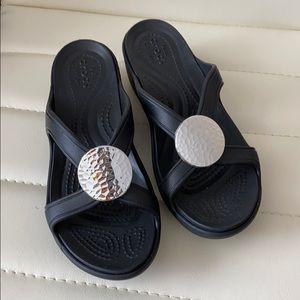 Crocs black sandals NEW!  Sz 5.